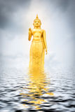 Buddha Water Reflections With the sky. As the background Royalty Free Stock Images