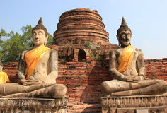 Buddha at Watyaichaimongkol Temple in Ayudhaya, Thailand Royalty Free Stock Image
