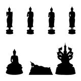 Buddha  on weekly. Silhouette of Thai Buddha,Buddha  on weekly Royalty Free Stock Images