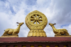 Buddha wheel at Jokhang monastery Stock Photo