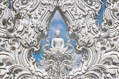 buddha white Royaltyfri Bild