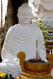 buddha white Arkivbild