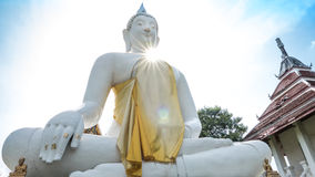 Buddha white statue  in Wat Prang Luang buddhist temple. Royalty Free Stock Photography