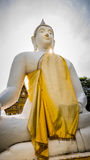 Buddha white statue  in Wat Prang Luang buddhist temple( Public temple ) in Nonthaburi, Thailand Royalty Free Stock Photography