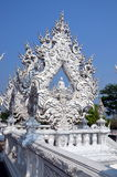 Buddha in White temple in Chiang Rai, Thailand royalty free stock images
