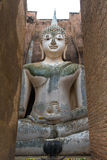Buddha wizerunek w Wata Sri kmotra świątyni przy Sukhothai Dziejowym Fotografia Royalty Free