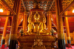 Buddha wizerunek Wat Phu Mintr, Nan prowincja, Tajlandia Fotografia Royalty Free