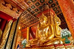 Buddha wizerunek Wat Phu Mintr, Nan prowincja, Tajlandia Obrazy Stock