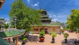 Buddha wizyta przy półdupka Chua Xu świątynią zdjęcie stock