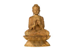Buddha wood carving. Buddha wood carving, Buddha statue buddha image used as amulets of Buddhism religion Stock Photos