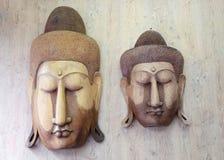 Buddha wood carvings Royalty Free Stock Photo