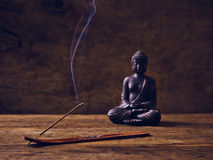 Buddha Wood joss stick Royalty Free Stock Photos