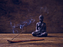 Buddha Wood joss stick Royalty Free Stock Images