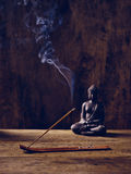 Buddha Wood joss stick Stock Image