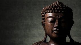 Buddha sculpture. Buddha wood sculpture still life stock photography