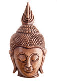 Buddha wooden mask from Thailand Royalty Free Stock Images
