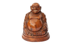 Buddha wooden statuette Royalty Free Stock Photo
