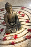 Buddha with the word Zen Stock Image