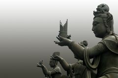 The buddha worshipers. Buddha worshipers in Hong Kong Royalty Free Stock Images