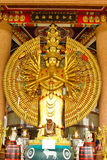 buddha wręcza statuę tysiąc Zdjęcia Royalty Free