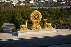 Buddha. Wuxi lingshan is national 5 a-class tourist scenic spot Royalty Free Stock Photos