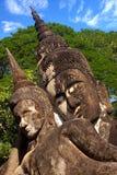 buddha xieng khuan pobliski parkowy Laos Vientiane Fotografia Royalty Free