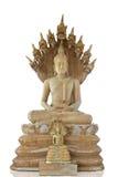 Buddha y estilo tailandés del naga Foto de archivo