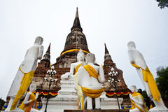 Buddha y monje Imagen de archivo libre de regalías