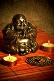 Buddha and ying yang Stock Images