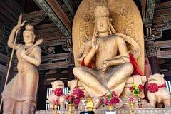 Buddha at Yungang Grottoes, Datong, Shanxi. China. December 6th, 2015 stock image