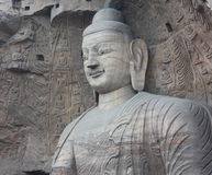Buddha in YunGang Stone Cave Royalty Free Stock Image