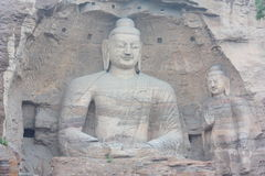 Buddha in YunGang Stone Cave Stock Photo