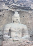 Buddha in YunGang Stone Cave Royalty Free Stock Photo