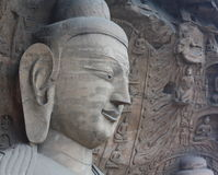 Buddha in YunGang Stone Cave Royalty Free Stock Images