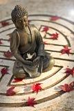 Buddha z gołąbką pokój Obrazy Royalty Free