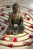 Buddha z OM znakiem Obraz Royalty Free