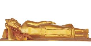 buddha złoty odosobniony target32_0_ biel Zdjęcie Royalty Free
