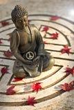 Buddha z pokoju znakiem Obrazy Royalty Free