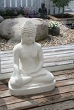 Buddha-Zahlen im Garten Stockbild