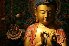 Buddha in a Zen Ambient Surrounding Stock Image