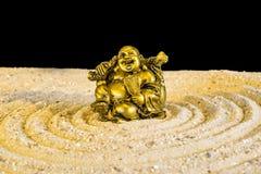 Buddha in zen circle Stock Image