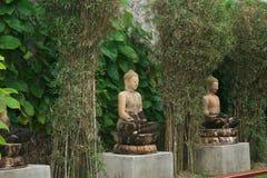 Buddha Zen Sculpture Fotografering för Bildbyråer