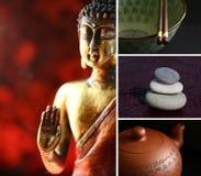 Buddha-Zenstatue Lizenzfreie Stockfotos