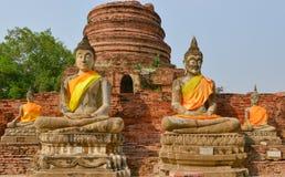 Buddha-Ziegelstein stockfotografie