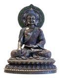 buddha ziemi pozy siedzący macanie obraz stock