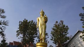 Buddhaanseendebild, Wat Phra That Khao Noi, Nan, Thailand arkivfilmer