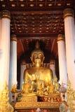 Buddhabild av en tempel Arkivfoto