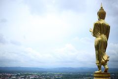 Buddhabild i den Wat Phra That Khao Noi templet Arkivfoto