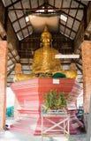 Buddhabild i enkel paviljong Arkivbild