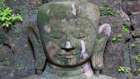 Buddhabild i Mrauk U, Myanmar Arkivbilder